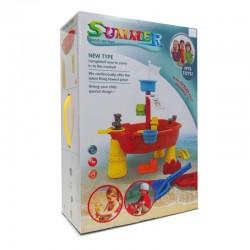 Summer Beach Set Toys - Barco Pirata para Moldear Arena