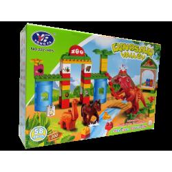 Dinosaur Valley -  Set de Bloques armable y dinosaurios