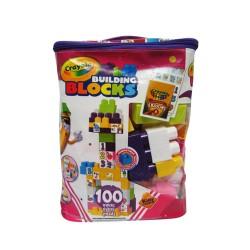 Crayola - Bloques Bolso Morado 100 Piezas.