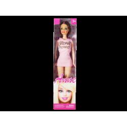 Muñeca tipo Barbie Anne Vestido Rosado