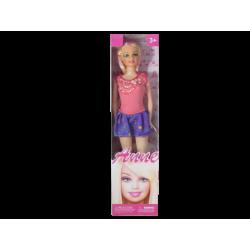 Muñeca tipo Barbie Anne Vestido Salmón y Morado