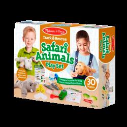 Melissa & Doug Juego de Juego de Animales Safari de Track & Rescue