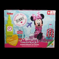Rompecabezas Disney Minnie Boarding Pass de 20 Piezas
