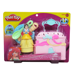 Masa Moldeable Play-Toy Princesa Blancanieves Caja de Juego Rosado