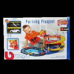 Bburago Street Fire Parking Playset