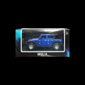 Carro modelo Jeep azul