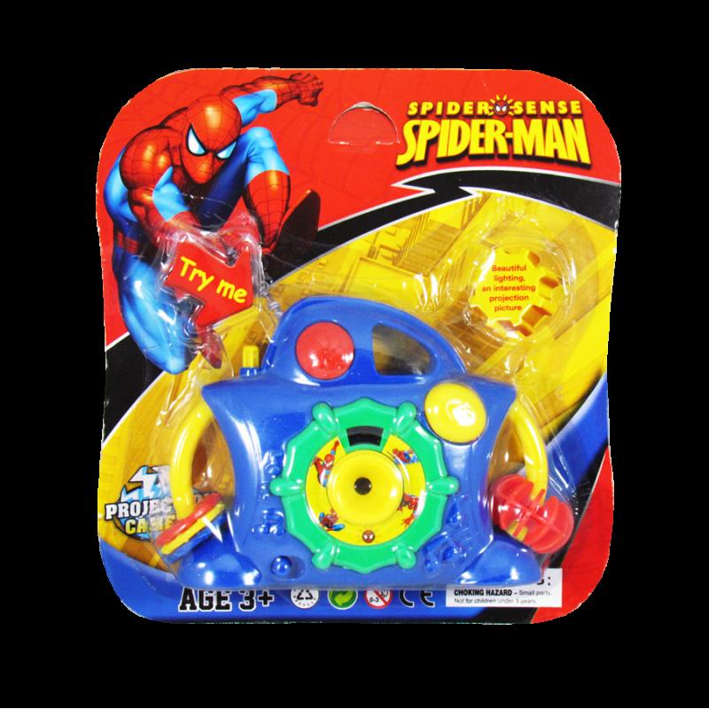 Cámara proyectora de juguete estilo Spider-Man