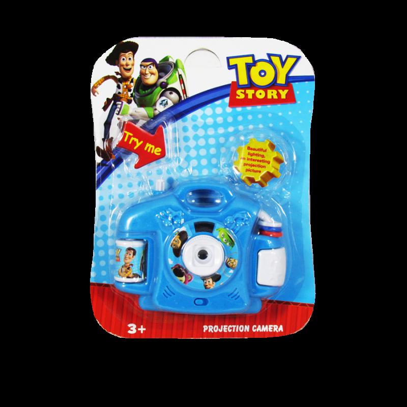 Cámara proyectora de juguete estilo Toy Story