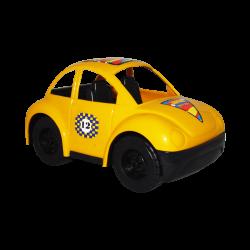 Carro de Plástico Estilo Escarabajo Pequeño Amarillo