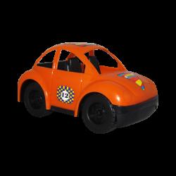 Carro de Plástico Estilo Escarabajo Pequeño Naranja