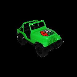Carro de Plástico Estilo Jeep Pequeño Verde