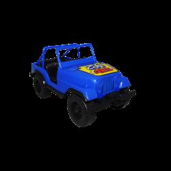 Carro de Plástico Estilo Jeep Pequeño Azul