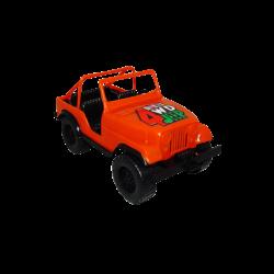 Carro de Plástico Estilo Jeep Pequeño Naranja