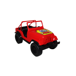 Carro de Plástico Estilo Jeep Pequeño Rojo