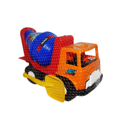 Camión Mezclador de Plástico Grande Naranja