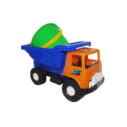 Camión de Volteo de Plástico Grande Naranja