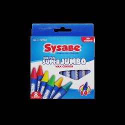 Sysabe 8 Creyones de cera SuperJumbo