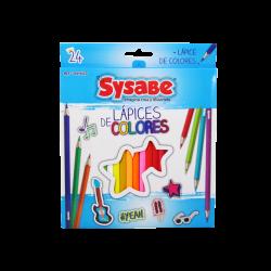 Sysabe 24 lápices de colores hexagonales