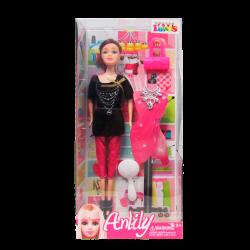 Muñeca Tipo Barbie Diseñadora Anlily