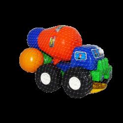 Camión Mezclador Azul de Plástico con Accesorios