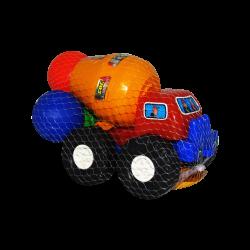 Camión Mezclador Rojo de Plástico con Accesorios