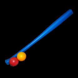 Bate Plástico Azul con Pelotas