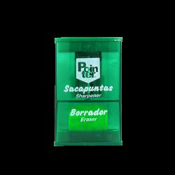Pointer Sacapuntas con Borrador Verde