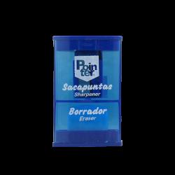 Pointer Sacapuntas con Borrador Azul