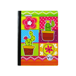 Cuaderno de una sola Línea Niña - Cactus